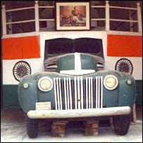 The Ford truck that carried Gandhi's ashes in 1948