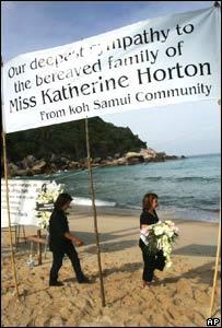 Koh Samui offers apologies to Katherine Horton's family