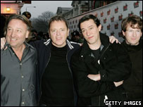 New Order, pictured at the NME awards in February
