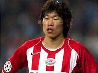 PSV midfielder Ji-Sung Park