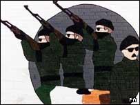 An IRA wall mural