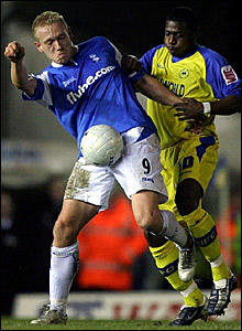 Mikael Forssell scored Birmingham's second goal against Torquay