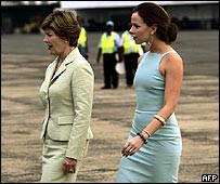 Laura Bush and daughter Barbara