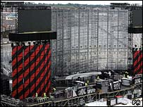 The stage being set up at Croke Park
