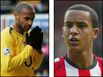 Thierry Henry (left) and Theo Walcott