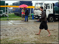 Glastonbury in the mud