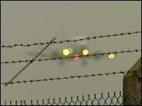 Plane landing at Prestwick
