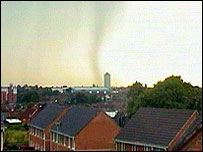 Tornado in Coventry