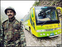 The current cross-Kashmir bus service