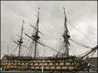 HMS Victory, Nelson's ship at Trafalgar