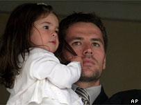 Michael Owen and daughter