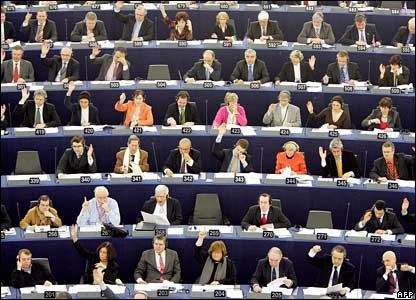 MEPs at Strasbourg (Photo: BBC/AFP)
