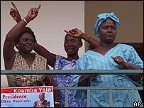 Supporters of Kumba Yala