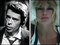 Jacques Brel and Brigitte Bardot