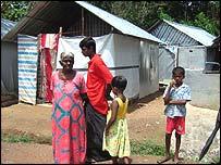 Survivors at relief camp