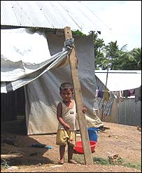 Child at relief camp