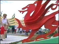 Welsh dragon at eisteddfod