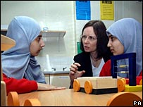 Head and pupils at Selly Park technology college