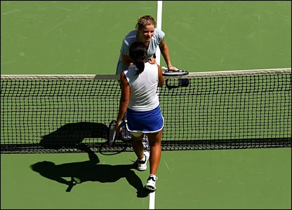 Kim Clijsters and Meng Yuan