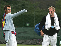 Andy Murray and his coach Mark Petchey