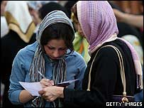 Iranian woman voters