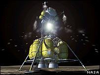Artist's impression of future Nasa moon lander, Nasa