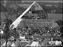 The Pyramid Stage at the 1971 festival