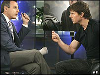 Matt Lauer and Tom Cruise
