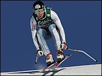 British downhill skier Finlay Mickel