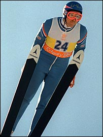 Eddie Edwards competed in the ski jump at Calgary in 1988