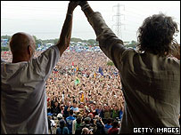 Michael Eavis and Bob Geldof
