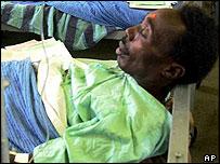 Alcohol poisoning victim in Kenya