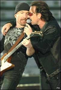Bono (right) and The Edge
