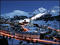 Sestriere will host many of the alpine skiing events
