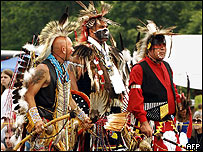 Lakota (far right) and other Indians