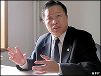 This file photo dated 02 November 2005 shows Gao Zhisheng, the head of the Beijing-based Zhisheng Legal Office,