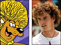 Hair Bear Bunch and Andy Murray