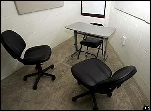 Interrogation room in Camp V