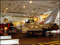 Hangar on FS Charles de Gaulle