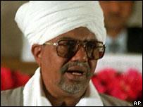 Sudan's President Omar e-Bashir