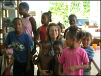 Penie Koch at the children's home