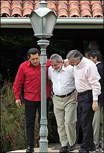 Presidentes de Venezuela, Brasil y Argentina.