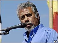 East Timor's President Xanana Gusmao