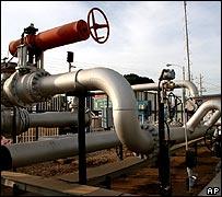 Gasoductos cerca de Maracaibo.