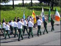 Republican march in Glasgow