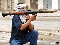 Insurgent fighter in Ramadi, Iraq