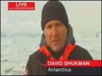 David Shukman live from the Antarctic (BBC)