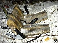 Debris from crash