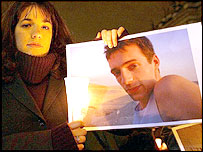 Sophie Hurndall holds a picture of her dead brother