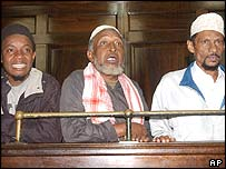 From left, Mohammed Khamis, Said Saggar Ahmed and Kubwa Mohammed Seif